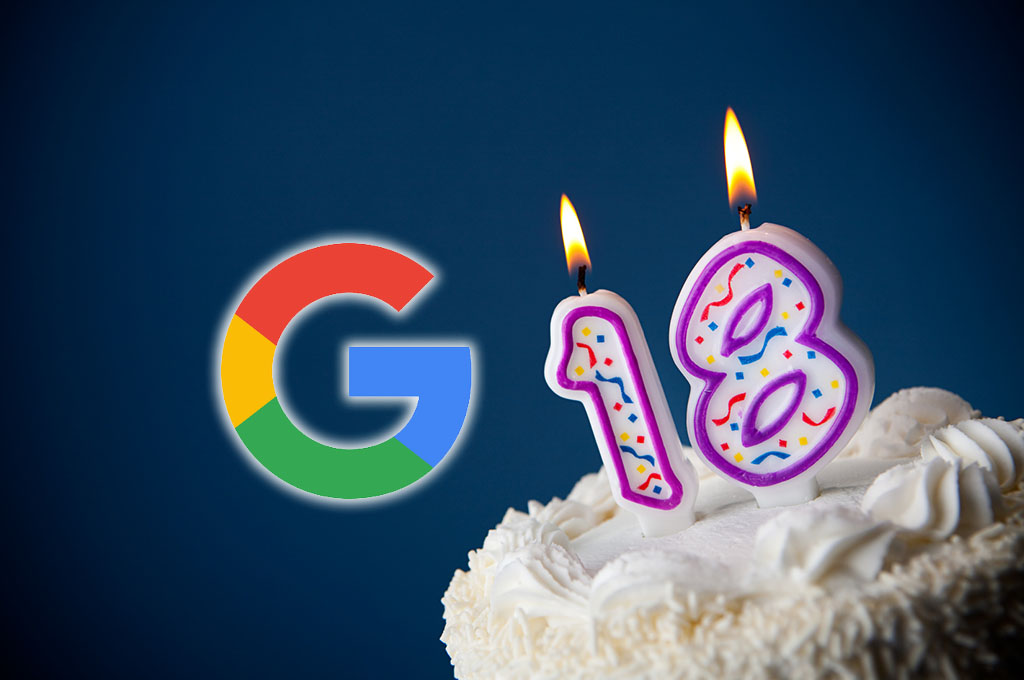 google 18° compleanno