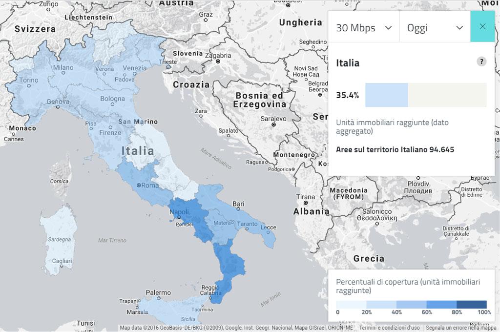banda larga in italia
